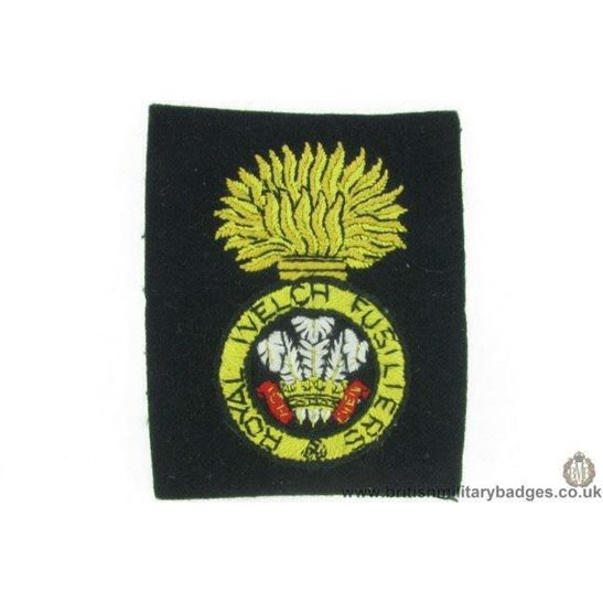 R1B/04 - Royal Welch Fusiliers RWF Welsh Regiment Blazer Badge