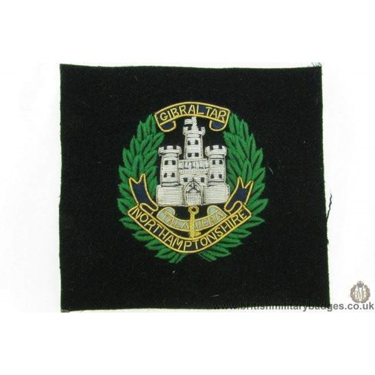 R1B/10 - Northamptonshre Regiment WIRE Blazer Badge