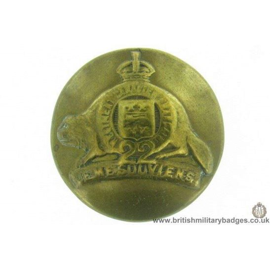 M1A/36 - Canadian 22nd Regiment Tunic Button 25mm