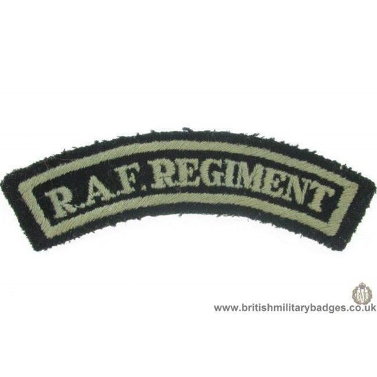 E1A/88 - The RAF Regiment Royal Air Force Cloth Shoulder Title