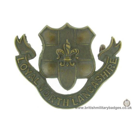 B1C/17 - Loyal North Lancashire Reg OFFICERS Bronze Collar Badge