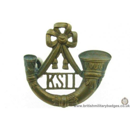 B1C/21  Kings Shropshire Light Infantry KSLI BRONZE Collar Badge
