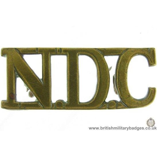 C1D/78 - National Defence Company NDC Corps Shoulder Title