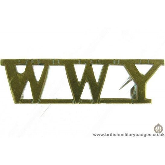 C1D/88 - Warwickshire Worcestershire Yeomanry WWY Shoulder Title