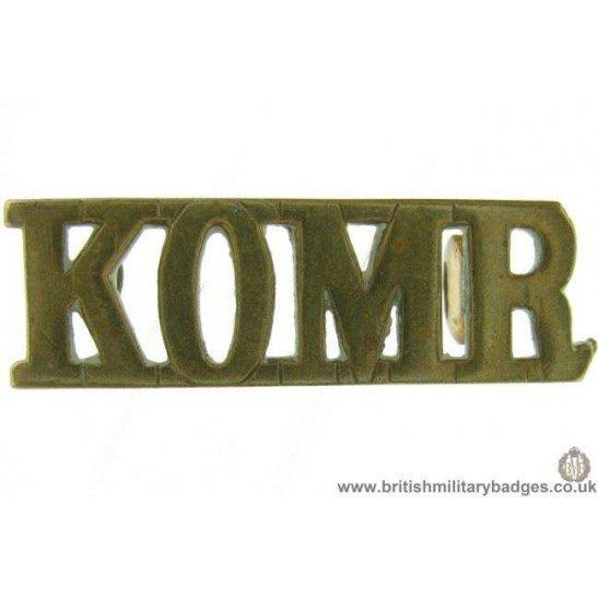 C1E/41 - Kings Own Malta Regiment King's KOMR Shoulder Title