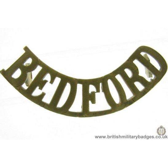 C1E/47 - Bedford / Bedfordshire Regiment Shoulder Title