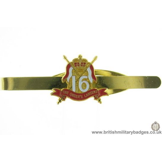 U1A/18  16th Queens Lancers Regiment Veterans Tie Clip Slide Bar