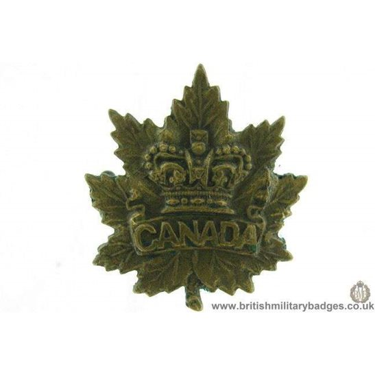 B1C/84 - VICTORIAN Canadian Army Militia Canada Collar Badge