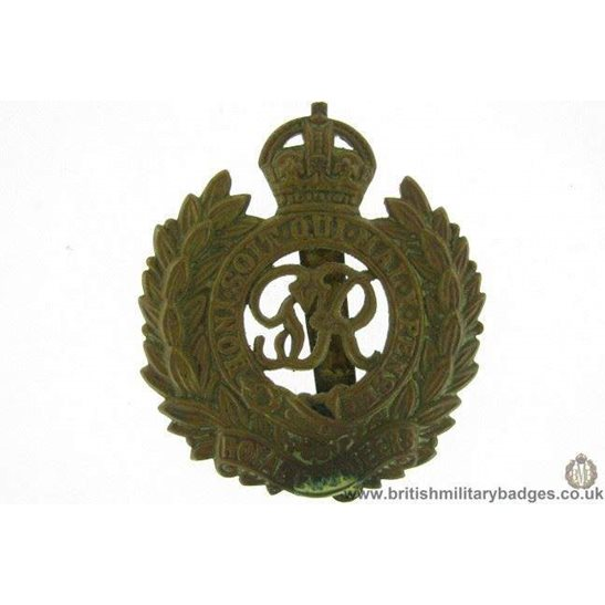 "A1E/39 - Royal Engineers Corps ""George VI"" Cap Badge"