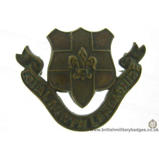 B1C/87 - Loyal North Lancashire Reg OFFICERS Bronze Collar Badge