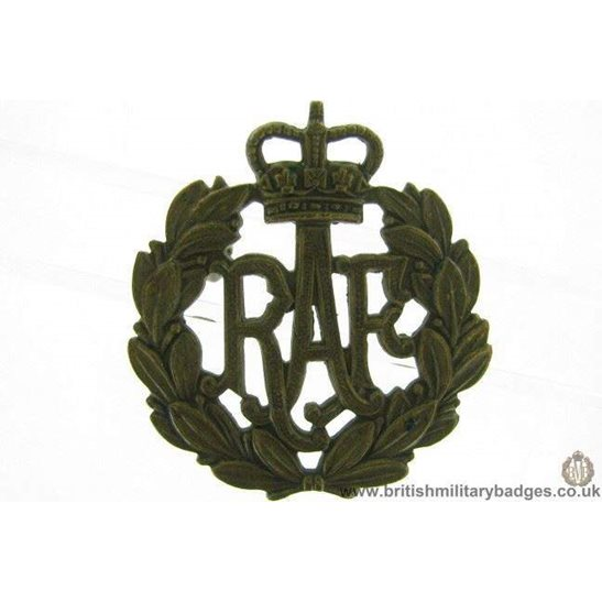 A1E/44 - Royal Air Force RAF Cap Badge - QC