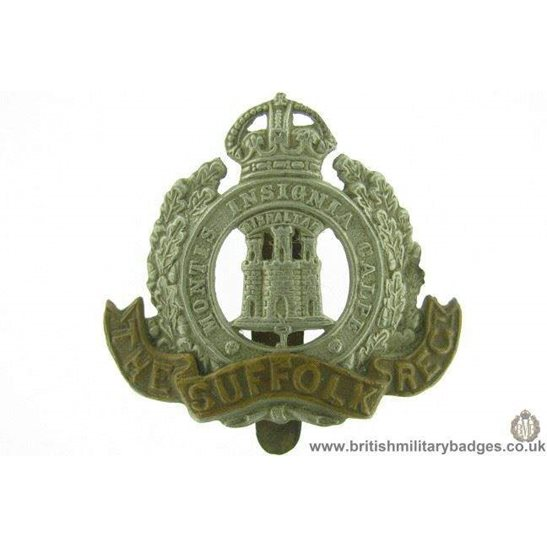 A1E/54 - The Suffolk Regiment Cap Badge
