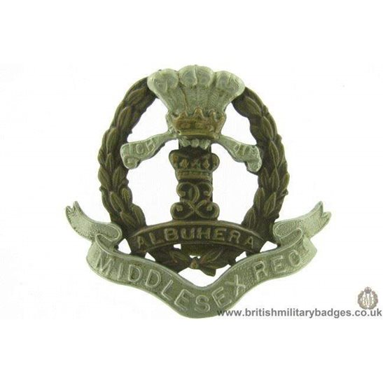 "A1E/61 - The Middlesex Regiment Cap Badge - ""Albuhera"""