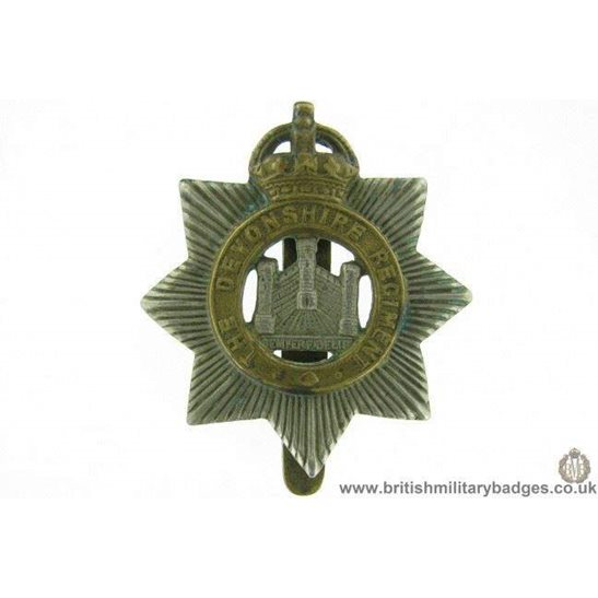 A1E/83 - The Devonshire / Devon Regiment Cap Badge