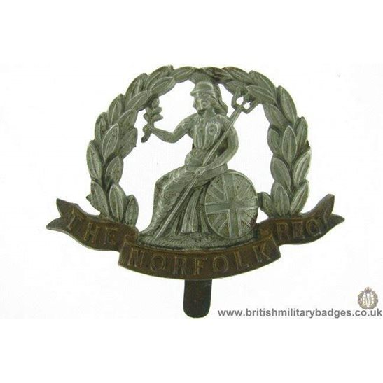 A1F/01 - The Royal Norfolk Regiment Cap Badge