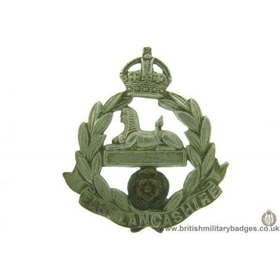 A1F/18  The East Lancashire TERRITORIAL Battalion Cap Badge LUGS
