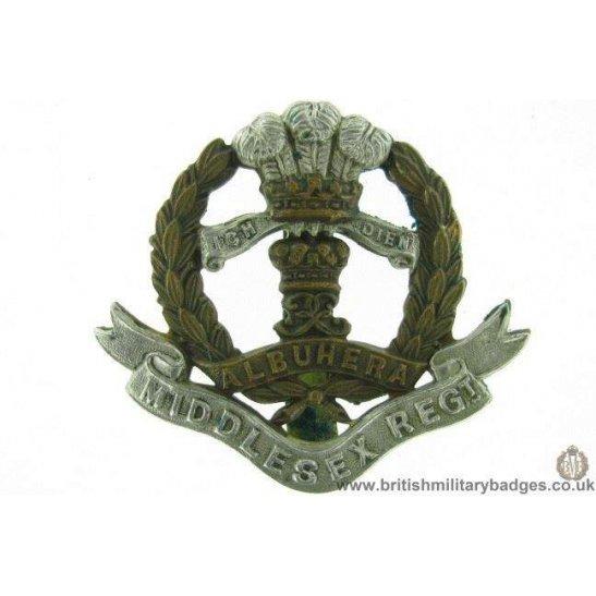 "A1F/32 - The Middlesex Regiment Cap Badge - ""Albuhera"""