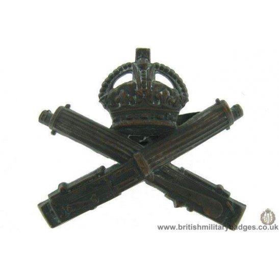 A1F/45 - Machine Gun Corps OFFICERS Bronze MGC Cap Badge