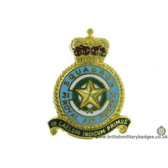 K1a 52 31 Squadron Royal Air Force Lapel Badge Raf