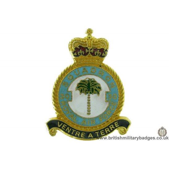 K1A/55 - 30 Squadron Royal Air Force Lapel Badge RAF