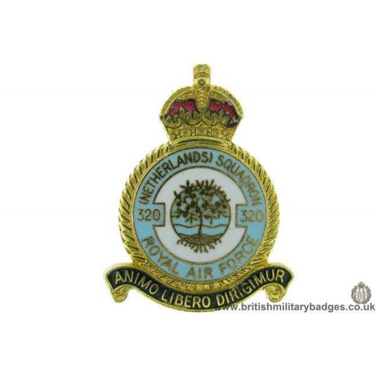 K1A/71  320 Netherlands Squadron Royal Air Force RAF Lapel Badge