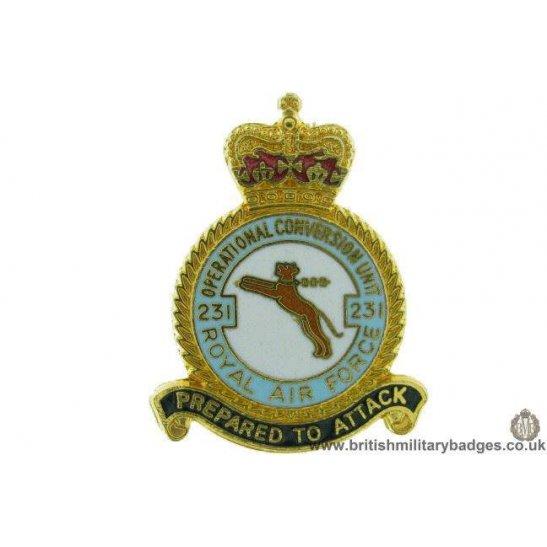 K1a 75 231 Squadron Royal Air Force Ocu Lapel Badge Raf