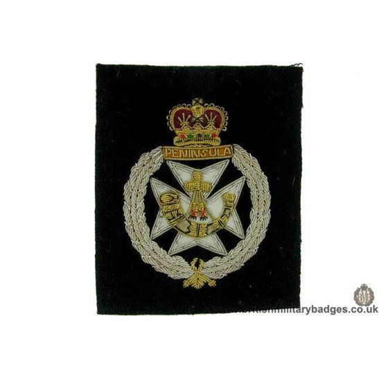 "additional image for R1B/18 - 2nd Dragoon Guards ""Queens Bays"" Regiment Blazer Badge"