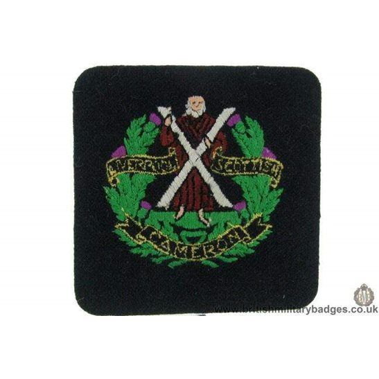 R1B/22 - Liverpool Scottish Cameron Highlanders Reg Blazer Badge