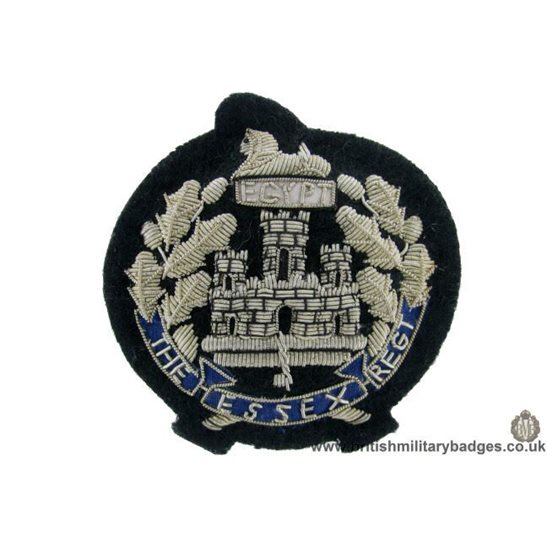 R1B/59 - The Essex Regiment WIRE Blazer Badge