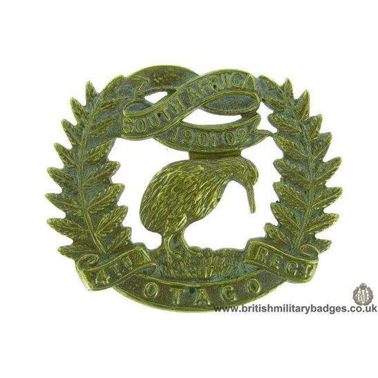 A1F/57 - 4th Otago New Zealand Army Regiment Cap Badge JR GAUNT