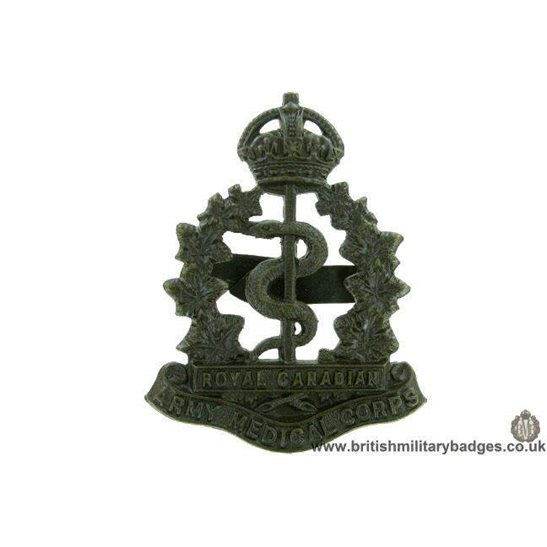A1F/58 Royal Canadian Army Medical Corps OFFICER Cap Badge GAUNT