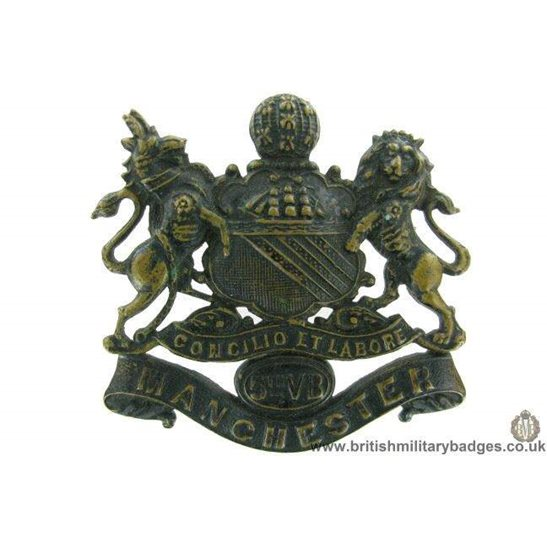 A1G/03  5th Volunteer Battalion VB Manchester Regiment Cap Badge