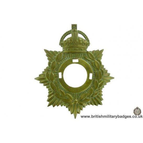A1G/05 - Generic Edwardian / WW1 Kings Crown Helmet Plate Centre