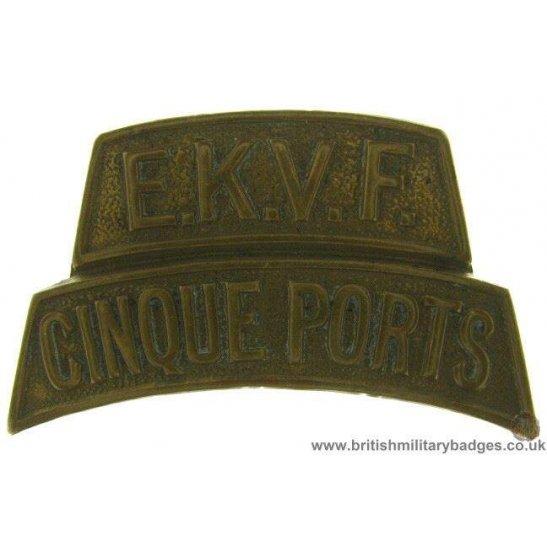 C1F/61 - Cinque Ports EKVF Regiment Shoulder Title