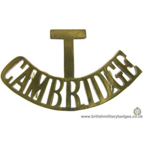 C1F/68 - Territorial Cambridgeshire Regiment T Shoulder Title