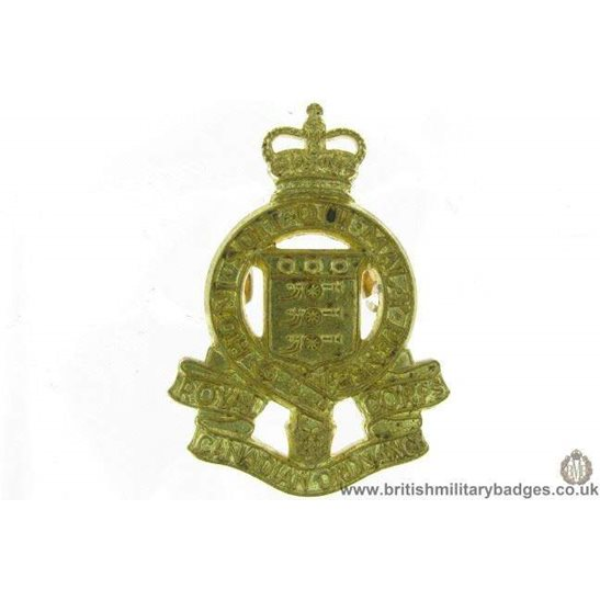 B1D/36 - Royal Canadian Ordnance Corps RCOC Collar Badge - QC