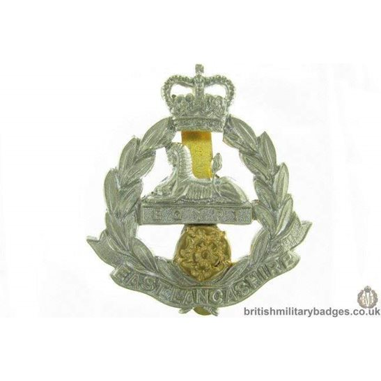 A1G/11 - East Lancashire Regiment Cap Badge - QC
