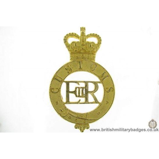 A1G/16 - HM Customs and Excise Cap Badge - QC