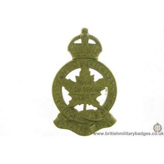 A1G/18 - Royal Montreal Canadian Regiment Cap Badge