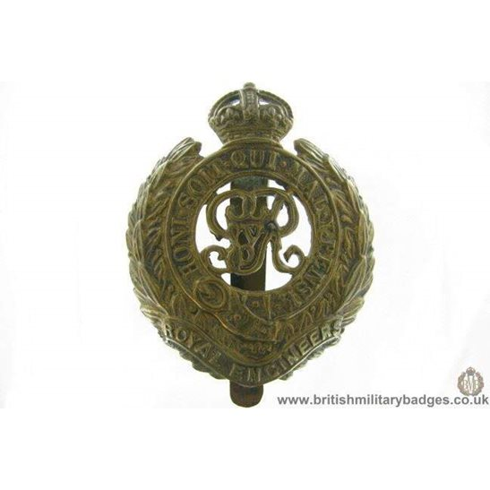 "A1G/29 - Royal Engineers Corps ""George V"" Cap Badge"