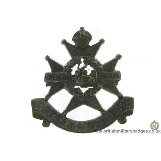 A1G/45 - Nottingham Officers Training Corps OTC Cap Badge