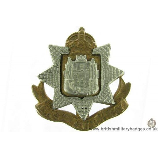 A1G/56 - East Surrey Regiment Cap Badge