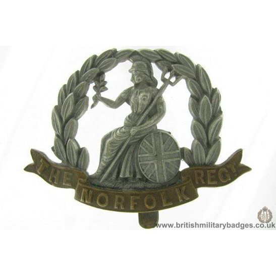 A1G/65 - The Royal Norfolk Regiment Cap Badge