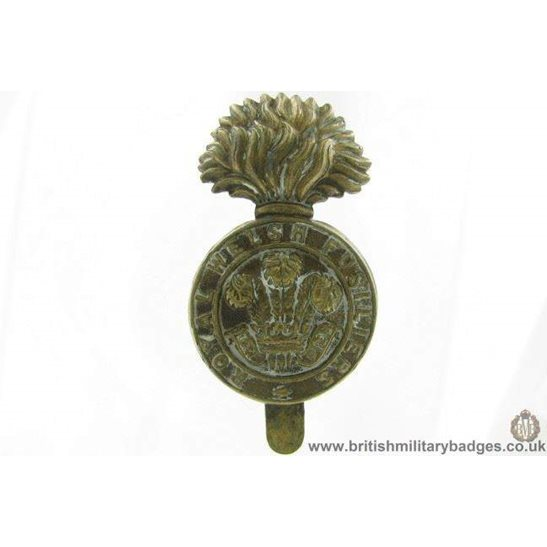 A1G/71 - Royal Welsh Fusiliers ALL BRASS Economy Issue Cap Badge