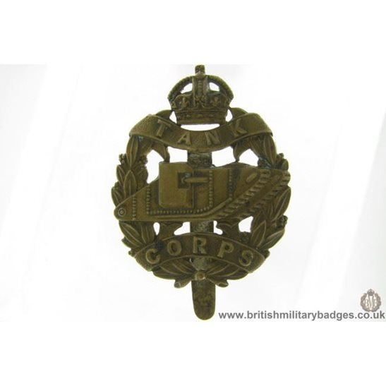 A1G/80 - WW1 Royal Tank Corps Regiment Cap Badge