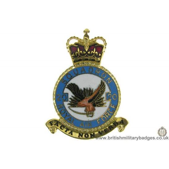 K1X/03 - 20 Squadron RAF Royal Air Force PLAQUE Badge