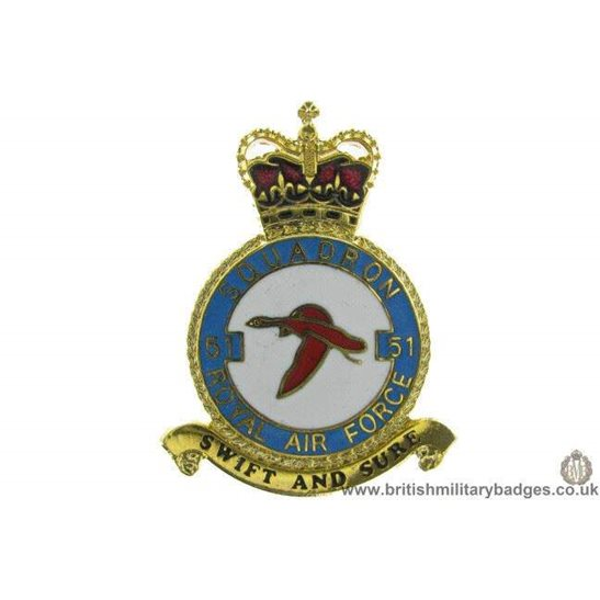 K1X/05 - 51 Squadron RAF Royal Air Force PLAQUE Badge