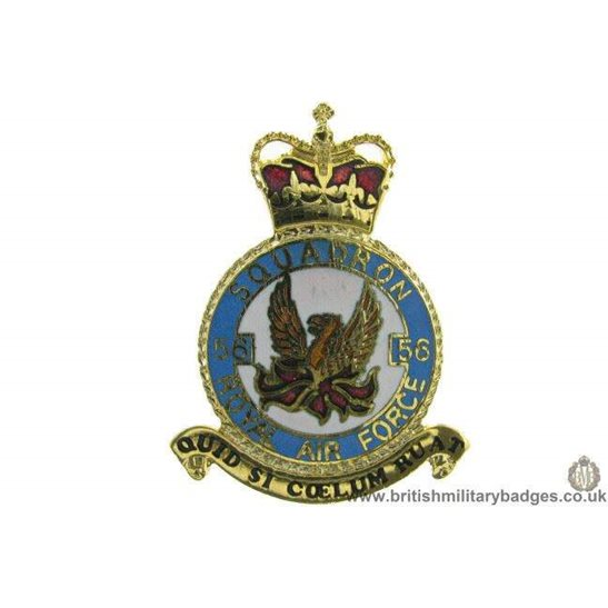 K1X/23 - 56 Squadron RAF Royal Air Force PLAQUE Badge