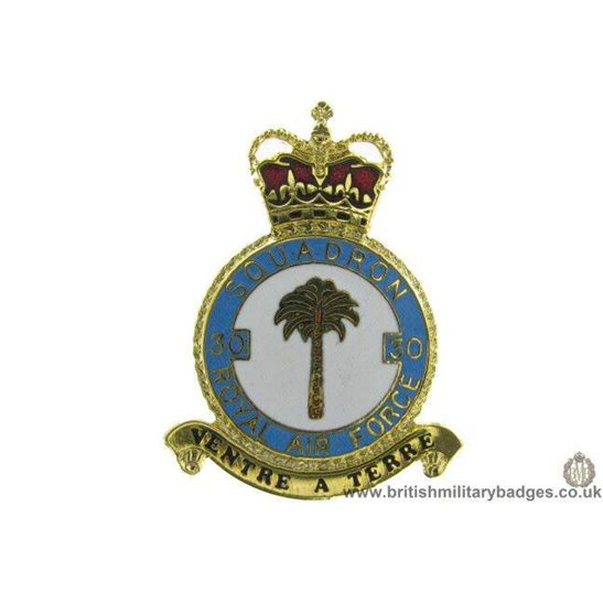 K1X/34 - 30 Squadron RAF Royal Air Force PLAQUE Badge