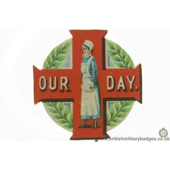 "additional image for K1B/42 - WW1 ""Vive La France"" Flag Day Fundraising Pin Badge"